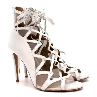 Aquazurra French Lover White Sandals