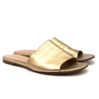 Gianvito Rossi Gold Leather Sandals