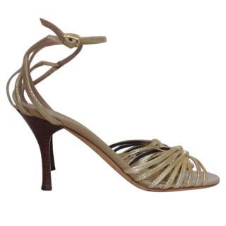 3.1 Phillip Lim suede strappy sandal heels