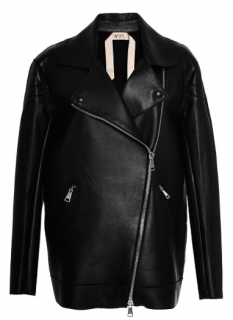 No 21 Clara Black Leather Jacket