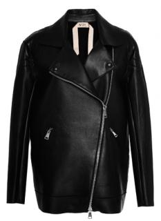 No 21 Clara Black Leather Jacket