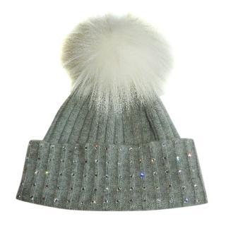 William Sharp Cashmere Swarovski Embellished Hat