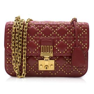 Dior DiorAddict Red Studded Flap Bag