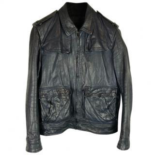 Nicole Farhi Mainline Leather Biker Jacket