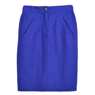 Byblos Blue Fitted Skirt