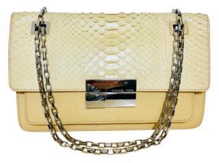 Micheal Kors Python Skin Flap Bag