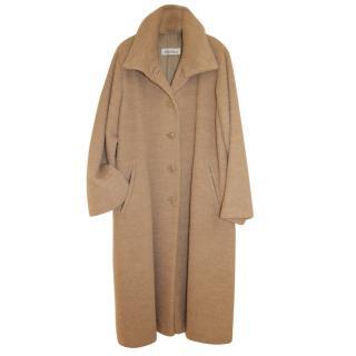 Max Mara Alpaca Sand Oversize Coat