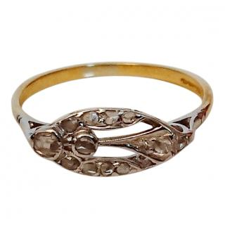 Bespoke Victorian Diamond Insect Ring 18ct Gold