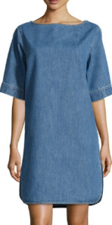 Stella McCartney Denim Blue Box Cut Shift Dress