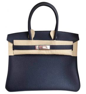 Hermes Blue Nuit 30cm Birkin Bag