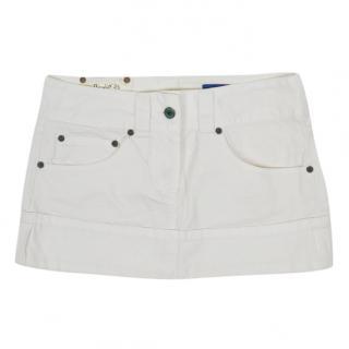 Dondup White Mini Skirt