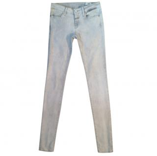Closed pale grey marl skinny stretchy jeans