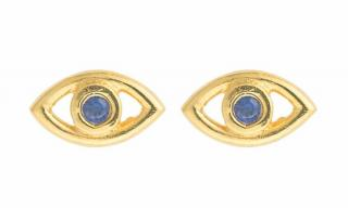Ileana Makri Stormy Night Mini Eye Earrings