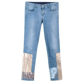 Stella Mccartney Metallic Detail Skinny Jeans