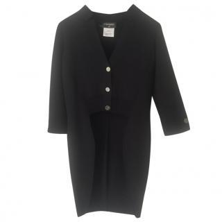 Chanel black high-low cardigan