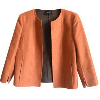 AKRIS cashmere double face open jacket