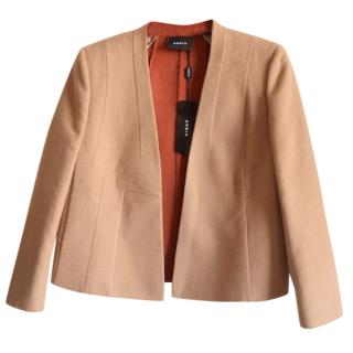 Akris wool double face open jacket