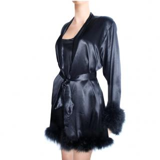 Maguy de Chadirac Black Short dressing gown
