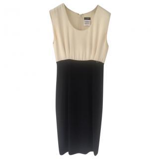 Chanel black and cream dress