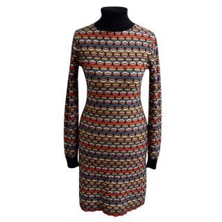 Missoni Polo Neck Wool Dress