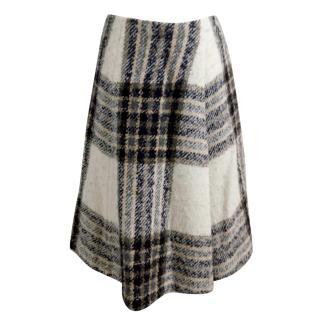 Valentino A-line Wool Midi Skirt