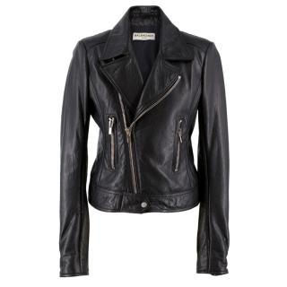 Balenciaga Black Leather Jacket