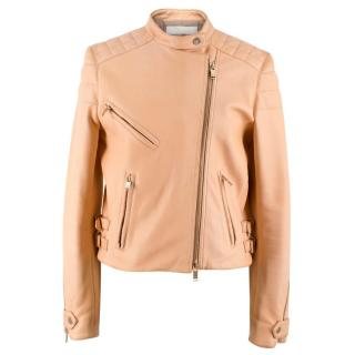 Chloe Nude Leather Biker Jacket