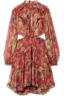 Zimmermann Melody Cutout Floral-print Mini Dress - Current Season