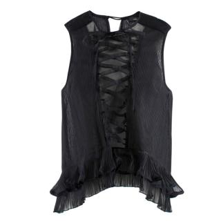 Isabel Marant Silk Lace-up Blouse
