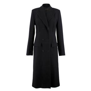 Alexander Mcqueen Black Double-breasted Coat