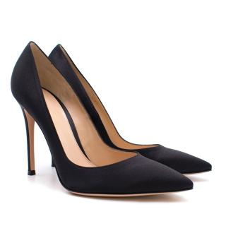 Gianvito Rossi Black Satin Pumps