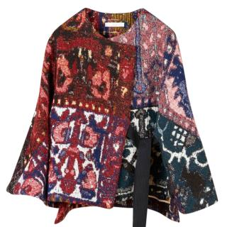 Chloe 'Ave' Tapestry Jacquard Wrap Jacket