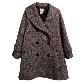 Celine monochrome tweed coat