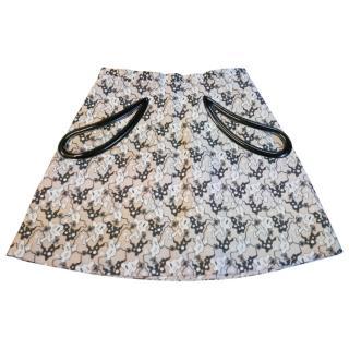 Christopher Kane 'Plasma' Jacquard Mini Skirt