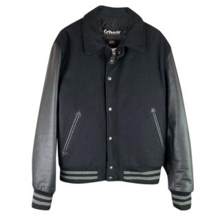 Schott NYC Wool & Leather Varsity Jacket