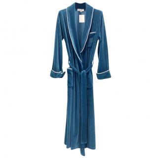 Laurence Tavernier Teal Velvet Robe