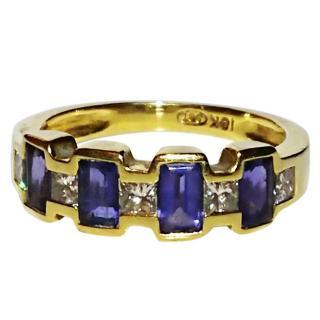 Bespoke 18ct Gold Tanzanite & Diamond Ring