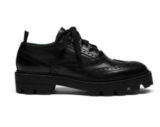 Mulberry Black Leather Brogues