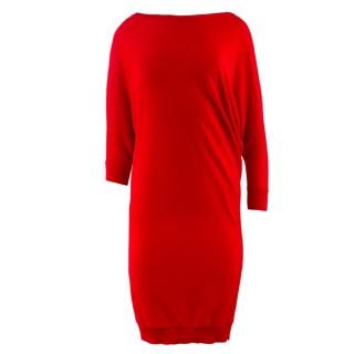 Alexander Mcqueen Asymmetric Sweater Dress