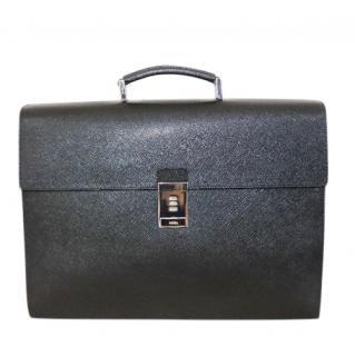 Prada saffiano leather combination lock briefcase