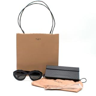 Alaia Black Oval Sunglasses