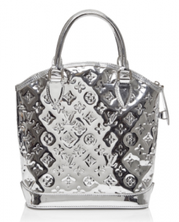 Louis Vuitton Limited Edition Metallic Silver Miroir Lockit Bag