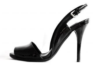 Ralph Lauren Collection black patent leather shoes