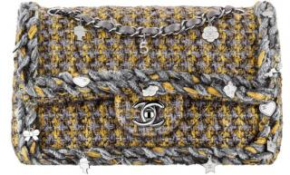 Chanel Tweed Charms Classic Flap Bag