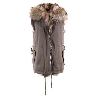 Mauro Guerresco Sleeveless Fur Lined Parka