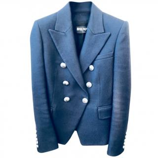 Balmain Blue Double Breasted blazer