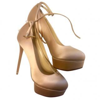 Charlotte Olympia satin heels
