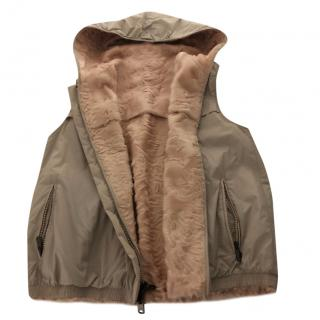 Brunello Cucinelli Astrackhan Reversible Vest