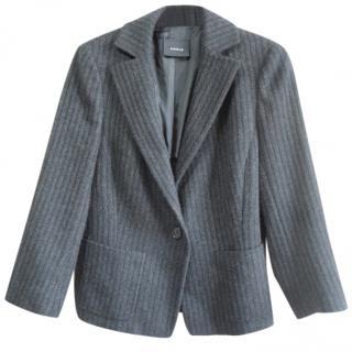 AKRIS black striped cashmere jacket