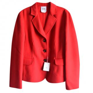 Moschino cheap and chic red cashmere blend blazer